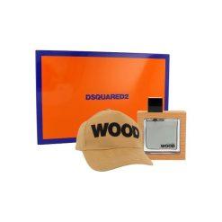 Dsquared Wood Zestaw dla mężczyzn EDT 50 ml + Czapka. Pomarańczowe czapki męskie Dsquared. Za 128,81 zł.