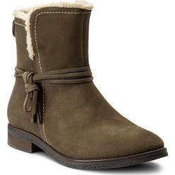 Botki LASOCKI - WI23-DALIA-04 Khaki. Zielone buty zimowe damskie Lasocki, ze skóry, na obcasie. Za 179,99 zł.