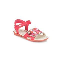 Sandały Dziecko  Camper  TWSS. Czerwone sandały dziewczęce marki Born2be, z materiału, z otwartym noskiem, na zamek. Za 247,20 zł.