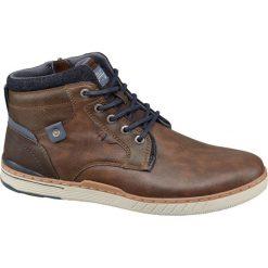 Kozaki męskie Venice brązowe. Brązowe buty zimowe męskie Venice, z materiału, na sznurówki. Za 139,90 zł.