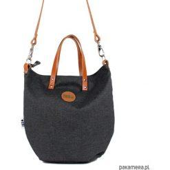 Torba Worek Small z długim paskiem. Szare torebki klasyczne damskie Pakamera, z bawełny, małe. Za 169,00 zł.