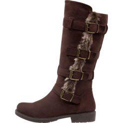 Anna Field Kowbojki i Buty motocyklowe dark brown. Brązowe buty zimowe damskie marki Anna Field, z materiału. W wyprzedaży za 135,20 zł.