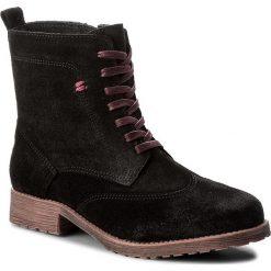 Botki FILIPE - 9805 Suede Black. Czarne buty zimowe damskie Filipe, ze skóry, na obcasie. W wyprzedaży za 249,00 zł.