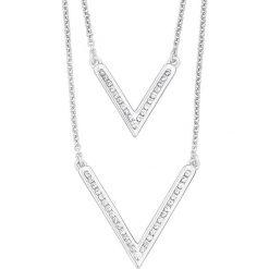Naszyjniki damskie: Srebrny naszyjnik z elementem ozdobnym – dł. 39 cm