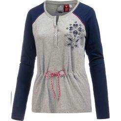 Koszulka w kolorze jasnoszaro-granatowym. Niebieskie t-shirty damskie OCK, z okrągłym kołnierzem. W wyprzedaży za 78,95 zł.