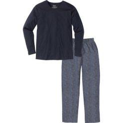 Bielizna męska: Piżama bonprix ciemnoniebieski wzorzysty
