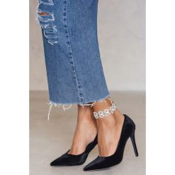 Bransoletki damskie: NA-KD Trend Bransoletka na kostkę w kształcie liści - Silver