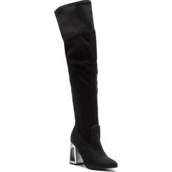Muszkieterki EKSBUT - 99-5501-549/0LW-1G Czarny. Czarne buty zimowe damskie Eksbut, z materiału, przed kolano, na wysokim obcasie, na obcasie. W wyprzedaży za 299,00 zł.