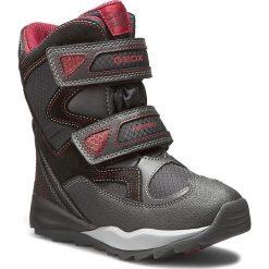 Buty zimowe chłopięce: Śniegowce GEOX – J Orizoni B Abx C J640BC 0FU22 C0048 Czarny/Czerwony