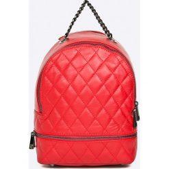 Answear - Plecak skórzany Stripes Vibes. Czerwone plecaki damskie ANSWEAR, z materiału. W wyprzedaży za 249,90 zł.
