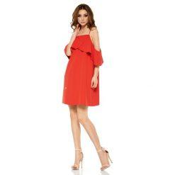 Modna sukienka z odkrytymi ramionami czerwony VALENTINA. Niebieskie sukienki balowe marki Reserved, z odkrytymi ramionami. Za 159,90 zł.