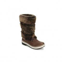 Śniegowce UGG  LILYAN. Szare buty zimowe damskie marki Ugg, z materiału, z okrągłym noskiem. Za 1023,20 zł.