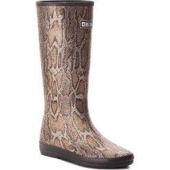 Kalosze BIG STAR - AA274996 Brown. Brązowe buty zimowe damskie BIG STAR, z materiału. W wyprzedaży za 129,00 zł.