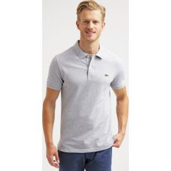 Lacoste SHORTSLEEVE SLIM FIT Koszulka polo silver chine. Szare koszulki polo marki Lacoste, z bawełny. Za 399,00 zł.