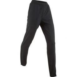 Spodnie sportowe funkcyjne, długie bonprix czarny. Czarne bryczesy damskie bonprix, w paski. Za 79,99 zł.
