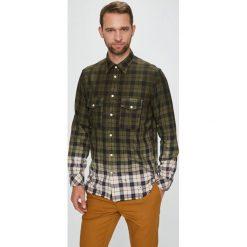 Diesel - Koszula. Brązowe koszule męskie na spinki Diesel, l, z bawełny, z klasycznym kołnierzykiem, z długim rękawem. W wyprzedaży za 499,90 zł.