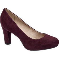 Czółenka damskie 5th Avenue fioletowe. Fioletowe buty ślubne damskie 5th Avenue, z materiału, na obcasie. Za 159,90 zł.