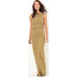Długie sukienki: Gładka, długa sukienka z dzianiny
