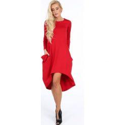 Sukienki: Sukienka asymetryczna czerwona 0203