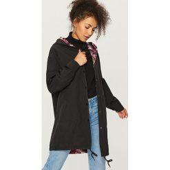 Płaszcze damskie pastelowe: Dwustronny płaszcz - Czarny