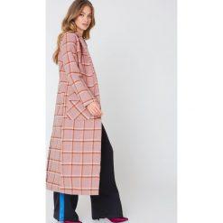 Płaszcze damskie pastelowe: Glamorous Długi płaszcz z kieszeniami – Pink