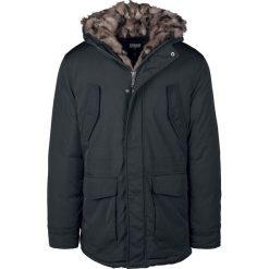 Urban Classics Hooded Faux Fur Parka Płaszcz czarny. Niebieskie płaszcze na zamek męskie marki Urban Classics, l, z okrągłym kołnierzem. Za 399,90 zł.