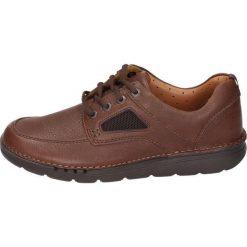Clarks Sznurowane obuwie sportowe brown. Brązowe buty skate męskie Clarks, z materiału, na sznurówki. Za 589,00 zł.