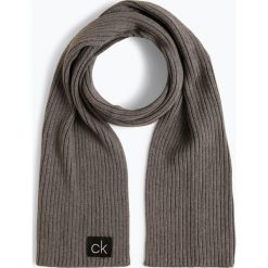 Calvin Klein - Szalik męski z dodatkiem kaszmiru, szary. Szare szaliki męskie marki Calvin Klein, z bawełny. Za 229,95 zł.