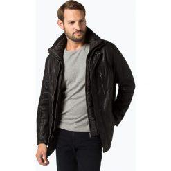 Van Graaf - Męska kurtka skórzana, czarny. Czarne kurtki męskie pikowane marki Van Graaf, m, klasyczne. Za 999,95 zł.