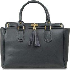 Torebki klasyczne damskie: Skórzana torebka w kolorze antracytowym – 36 x 17 x 27 cm