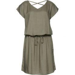 Sukienki hiszpanki: Sukienka z krótkim rękawem, detal na plecach