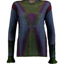 Swetry klasyczne damskie: Derhy ALTERNANCE  Sweter vert