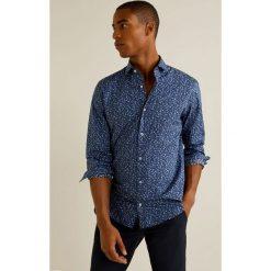 Mango Man - Koszula Levante. Szare koszule męskie na spinki marki Mango Man, l, z bawełny, z włoskim kołnierzykiem, z długim rękawem. W wyprzedaży za 99,90 zł.