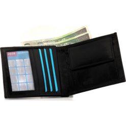 Elegancki czarny skórzany męski portfel SOLIER RFID secure. Czarne portfele męskie marki Pakamera, ze skóry. Za 69,00 zł.