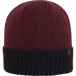 Czapka męska CAM254Z - bordowy - 4F. Czerwone czapki zimowe męskie marki 4f, na jesień, z materiału. Za 19,99 zł.