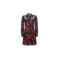 Sukienki krótkie Morgan  RANIAN. Brązowe sukienki mini marki Morgan, z krótkim rękawem. Za 329,00 zł.