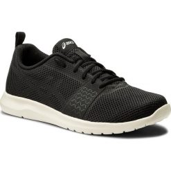 Buty ASICS - Kanmei Mx T849N Black/Black/Birch 9090. Czarne buty do biegania męskie Asics, z materiału. W wyprzedaży za 179,00 zł.
