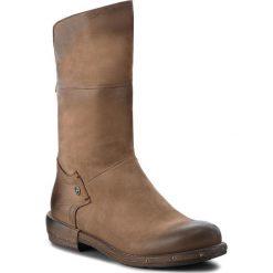 Kozaki EVA MINGE - Petrer 4H 18AS1372539EF 403. Brązowe buty zimowe damskie Eva Minge, z materiału. W wyprzedaży za 469,00 zł.