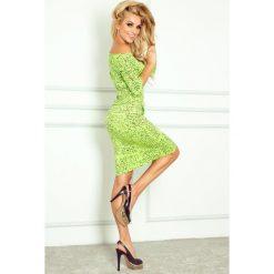 Desire Sukienka sportowa - Papirus napis + zielony. Zielone sukienki sportowe numoco, na imprezę, z napisami, z wiskozy, sportowe. Za 109,00 zł.