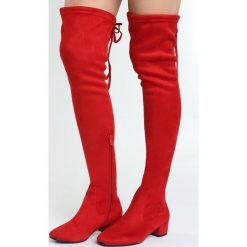 Czerwone Kozaki Decorous. Czerwone buty zimowe damskie marki Born2be, na płaskiej podeszwie. Za 149,99 zł.