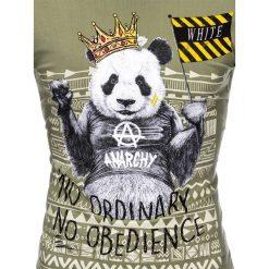 T-SHIRT MĘSKI Z NADRUKIEM S931 - KHAKI. Brązowe t-shirty męskie z nadrukiem Ombre Clothing, m. Za 29,00 zł.