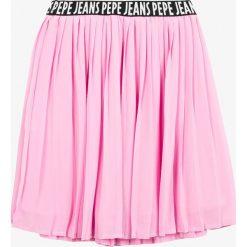 Pepe Jeans - Spódnica dziecięca Wendoline 122-176 cm. Różowe spódniczki dziewczęce jeansowe marki Pepe Jeans, l, midi, plisowane. Za 239,90 zł.