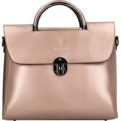 """Torebki klasyczne damskie: Skórzana torebka """"Louvre"""" w kolorze jasnoróżowym – 27 x 23 x 14 cm"""