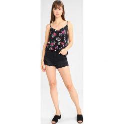 Bermudy damskie: New Look TAPE MOM  Szorty jeansowe black