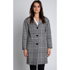 Elegancki płaszcz zapinany na guziki BIALCON. Szare płaszcze damskie pastelowe BIALCON, na jesień, eleganckie. W wyprzedaży za 300,00 zł.