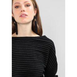 Bluzki asymetryczne: KIOMI REPEAT STRUCTURED RIB Bluzka z długim rękawem black