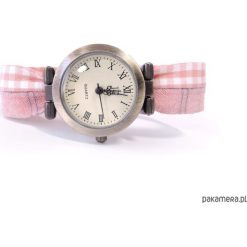 Zegarki damskie: ZEGAREK damski   Kolorowy pasek do zegarka
