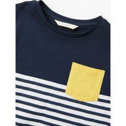 Mango Kids - T-shirt dziecięcy Munich 110-164 cm. Szare t-shirty chłopięce Mango Kids, z bawełny, z okrągłym kołnierzem. W wyprzedaży za 19,90 zł.