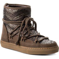 Buty INUIKII - Sneaker Vintage Seq. 20205 Dark Brown. Brązowe buty zimowe damskie Inuikii, z materiału, na niskim obcasie. W wyprzedaży za 829,00 zł.