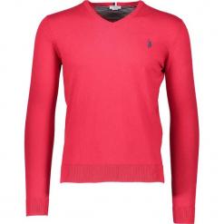 Sweter w kolorze różowym. Czerwone swetry klasyczne męskie U.S. Polo Assn., m, z haftami, z kaszmiru. W wyprzedaży za 217,95 zł.